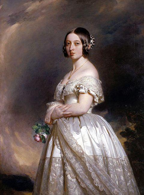 Queen Victoria in 1842 in her early twenties