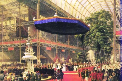 Queen Victoria opening the great exhibition 1851, inside the Crystal Palace.