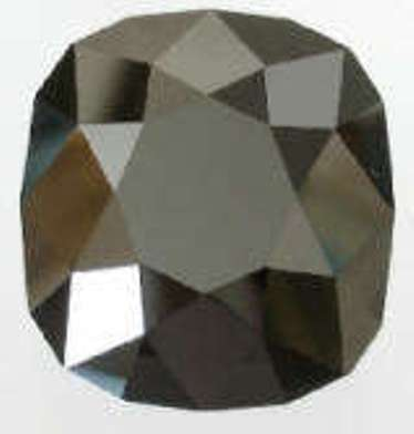 Replica of the cushion-cut Black Orlov diamod