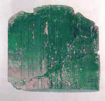 The Rough Emerald that produced the Carolina Prince and the Carolina Queen Emerald's