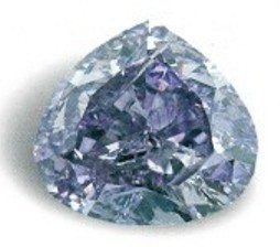 Royal Purple Heart Diamond