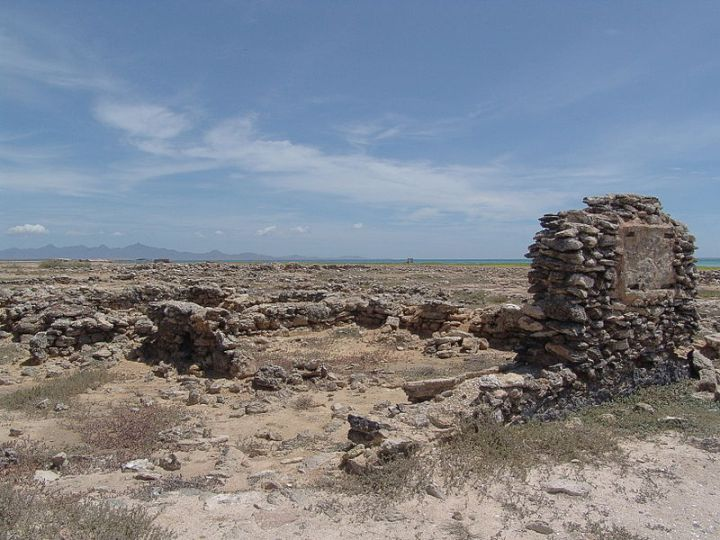 Ruins of the former city of New Cadiz