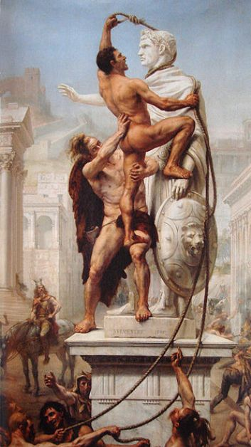 Sack of Rome by Visigoths in 410 A.D.