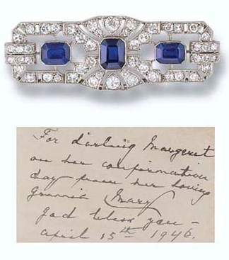 Princess Margaret's Art Deco Sapphire and Diamond Brooch