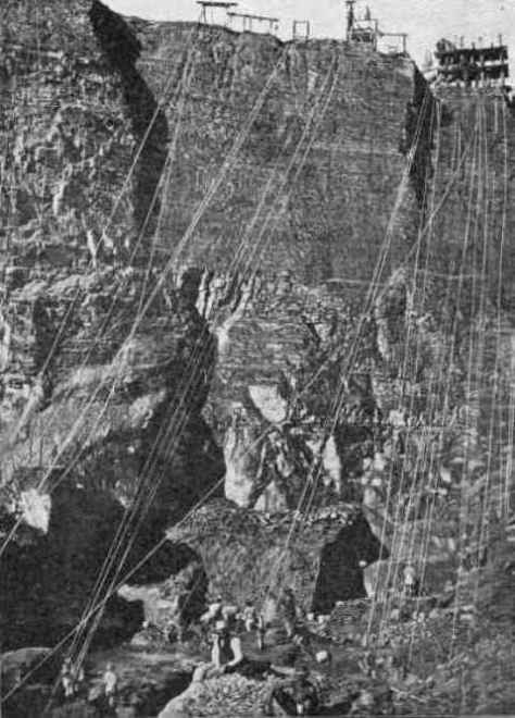 Section of the De Beers Mine in 1874