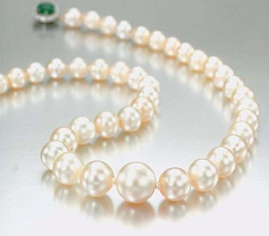 41 pearl single strand natural pearl necklace