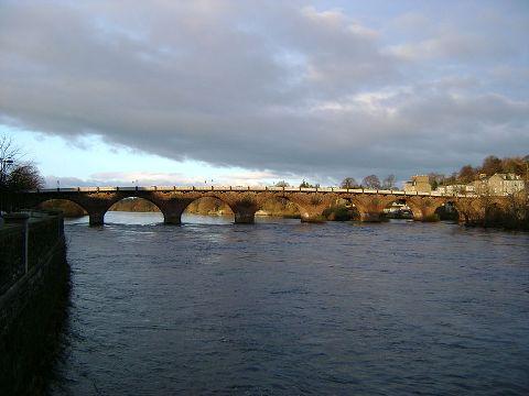 Smeaton's bridge over River Tay at Perth, Scotland, built in 1771