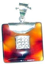 square cut carnelian gemstone ear drop