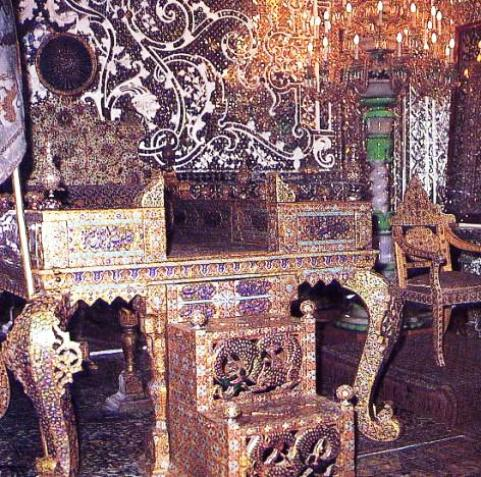 The Sun Throne or Peacock Throne, constructed by Fath Ali Shah