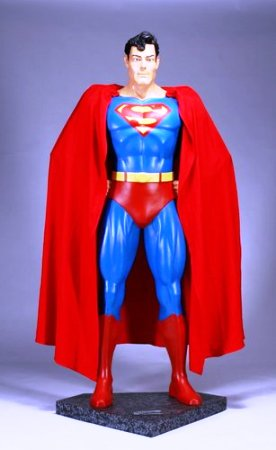 Superman Statue from the Neverland Ranch Collection