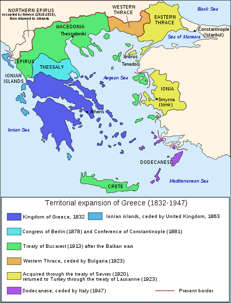 Territorial expansion of Greece (1832- 1947)