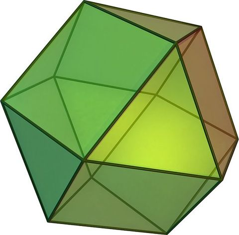 The Cubo-Octahedron - Rare diamond crystal form