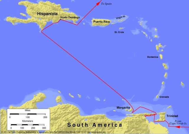 Third Voyage of Columbus - 1498 to 1500