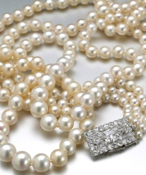 The Three-strand Dodge Pearl Necklace