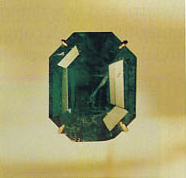 "The ""Carolina Emerald"" aka the ""Tiffany Emerald"" is a 13.14-carat, emerald-cut, dark-green emerald"