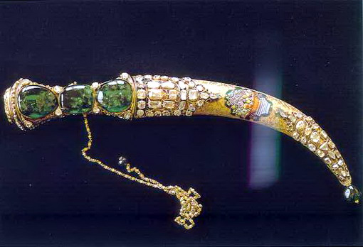 The Topkapi Emerald Dagger from the Topkapi Museum in Istanbul, Turkey