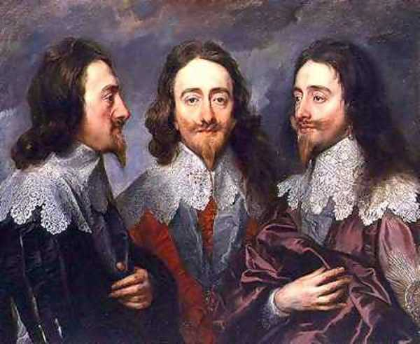 Triple portrait of Charles I by Anthony van Dyck around 1636