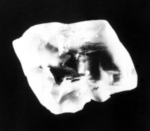 The Uncle Sam rough diamond crystal before cutting