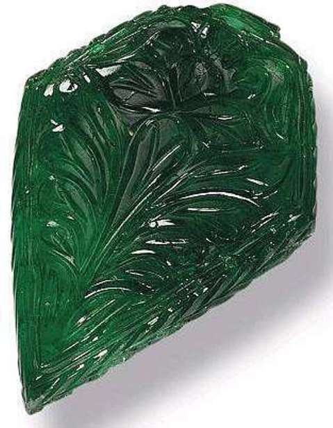 Unknown 64.99-carat engraved emerald of the Mughal period