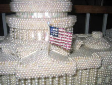 Close Up Of The Base Of The Central Dome Showing The Miniature American Flag