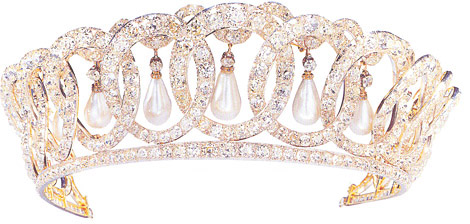 Photo of Vladimir Tiara with original pearl setting