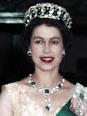 "Her Majesty Queen Elizabeth II wearing the ""Vladimir Tiara"""