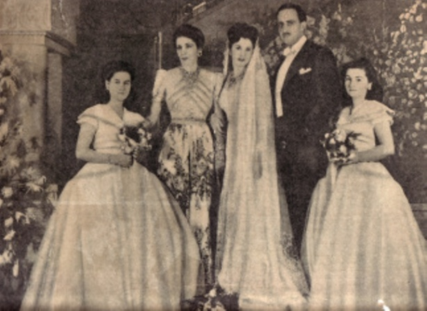 Wedding of H.R.H. Princess Faiza to Mohammed Ali Bulent Rauf in 1945