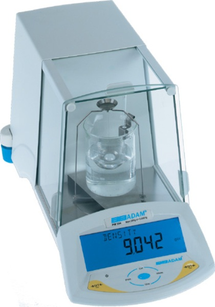 Modern digital weighing scales that can be used to determine the specific gravity and density of gemstones.