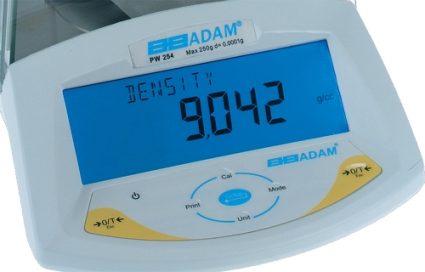 Display panel of a Modern digital weighing scales (by Adam PW 254) )