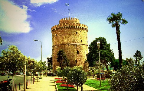 White Tower of Thessaloniki around which area King George I was assasinated