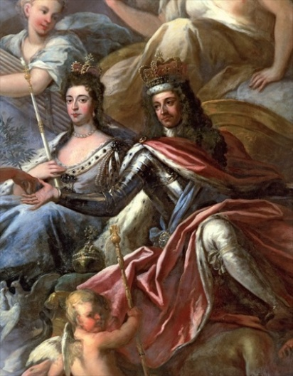 King William III and Queen Mary II - Co-rulers of the kingdoms of England, Scotland and Ireland from 1689 to 1694