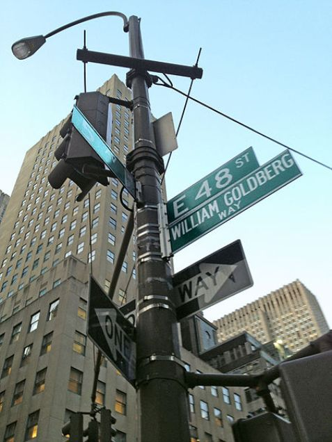 48th Street in Manhattan New York, designated as William Goldberg Way
