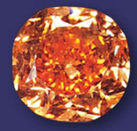 5.54-carat, fancy vivid orange Pumpkin Diamond