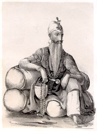 Maharajah Ranjith Singh, the ruler of Pungab.