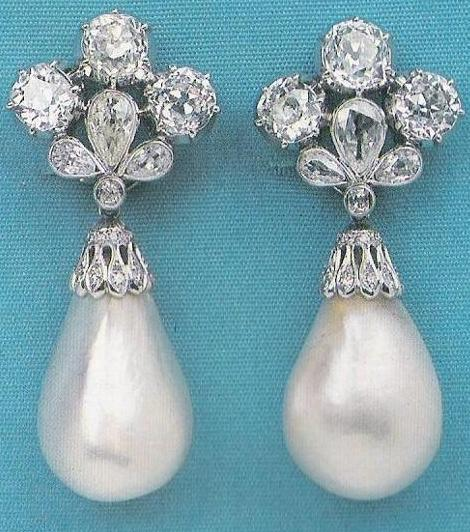Mancini Pearl Ear Pendants