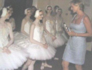 Diana Princess of Wales with the Swan Lake Ballerinas
