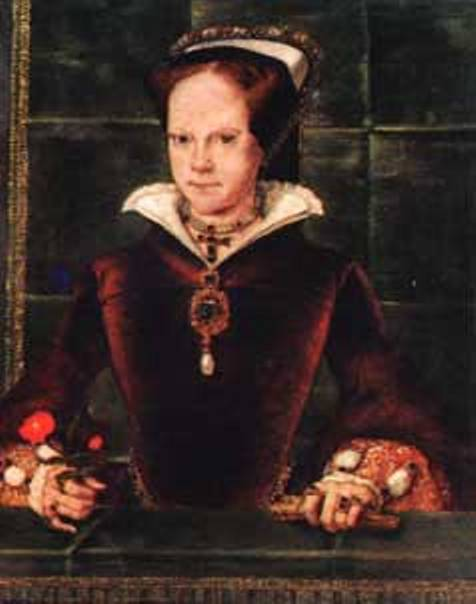Queen Mary I (Bloody Mary) wearing the La Peregrina Pearl