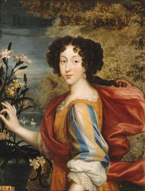 Portrait of young Marie Louise d'Orleans, eldest daughter of Duke Philip I of Orleans and his first wife Henrietta Anne of England